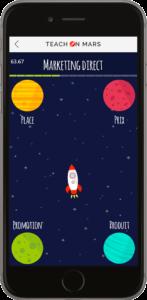 Teach on Mars raises 2.2 million euros : print screen of mobile learning application