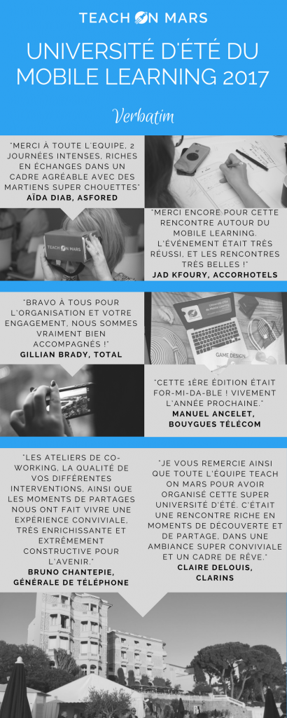 Université d'Été du Mobile Learning 2017 - VERBATIM