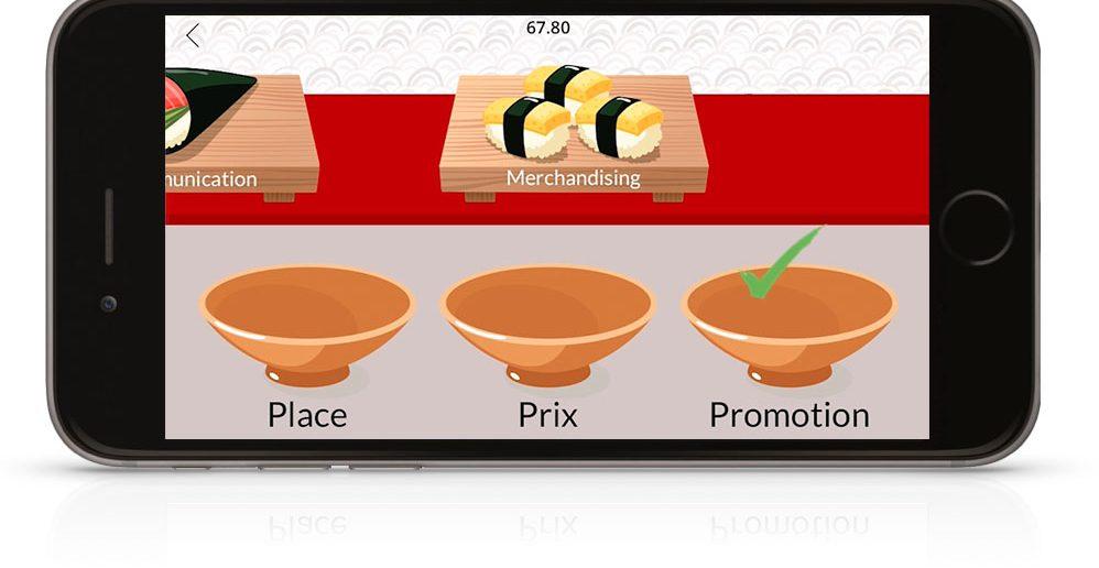 Jeu pédagogique mobile Sushi Game by Teach on Mars - Activité pédagogique