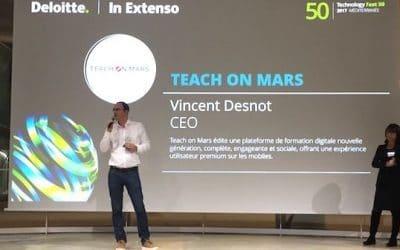 Palmarès Fast 50: Teach on Mars reçoit le Prix Révélation Deloitte In Extenso