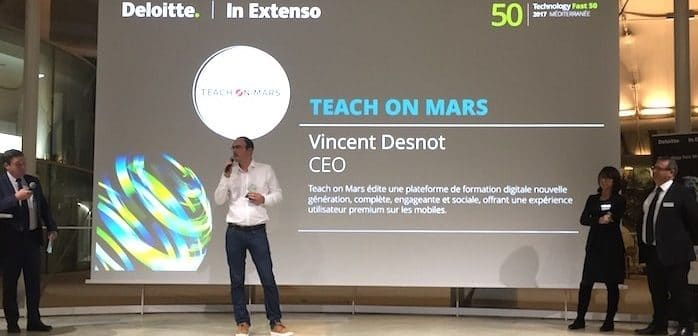 Fast 50 : Vincent Desnot, Teach on Mars CEO, was awarded the Revelation Prize