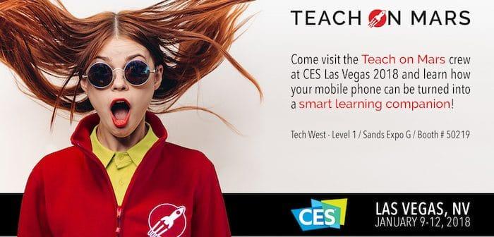 CES banner Teach on Mars