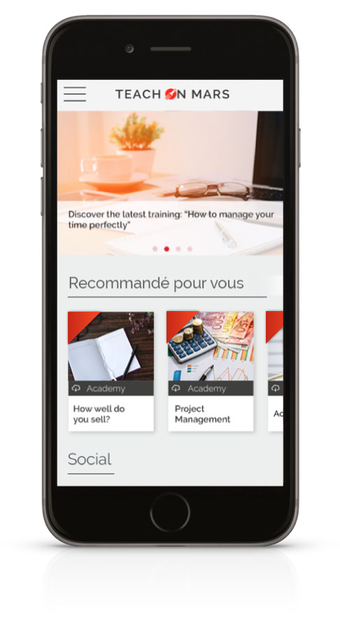 application mobile learning recommandation formations