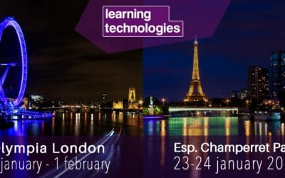 Keynote performances from Teach on Mars at Learning Technologies shows in Paris and London