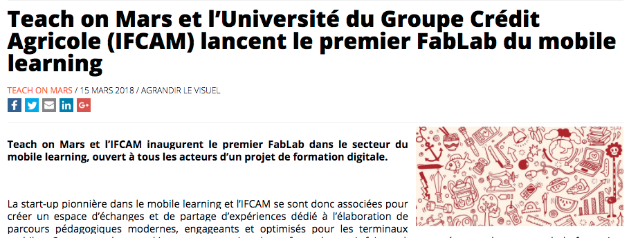 Article FabLab Elearningletter