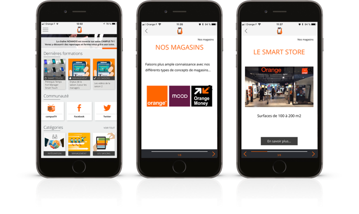 application campus mobile general de telephone