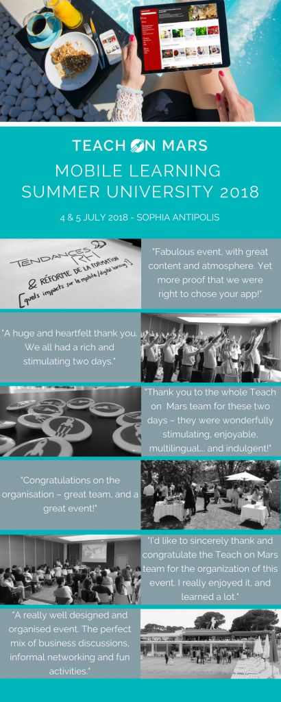 mobile learning summer university participant testimonials