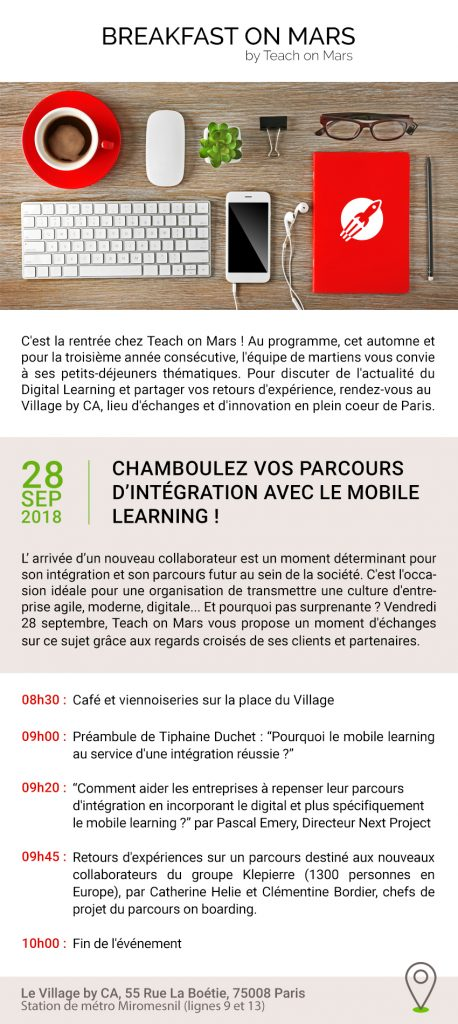 Flyer Breakfast on Mars 28 septembre 2018