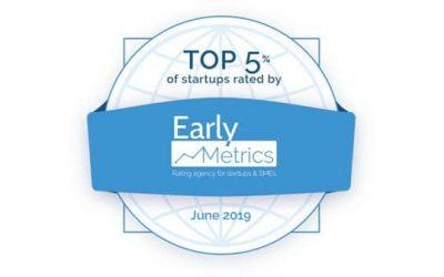 Teach on Mars dans le Top 5% des start-up et PME dans le classement de Early Metrics