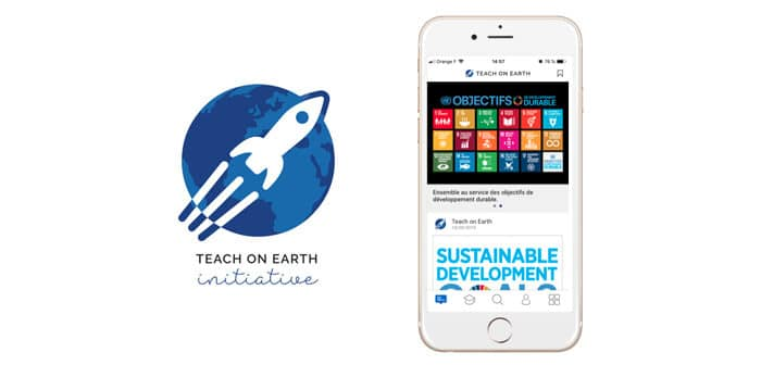 Lancement application Teach on Earth
