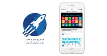 Lancement application Teach on Earth