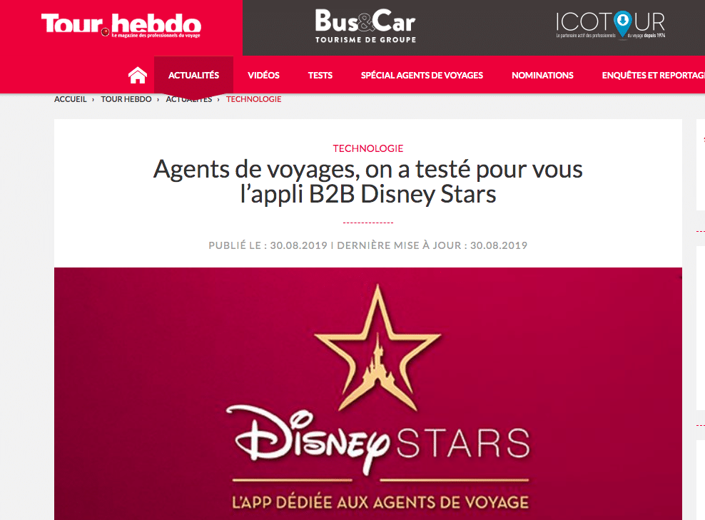 article disney stars par tour hebdo