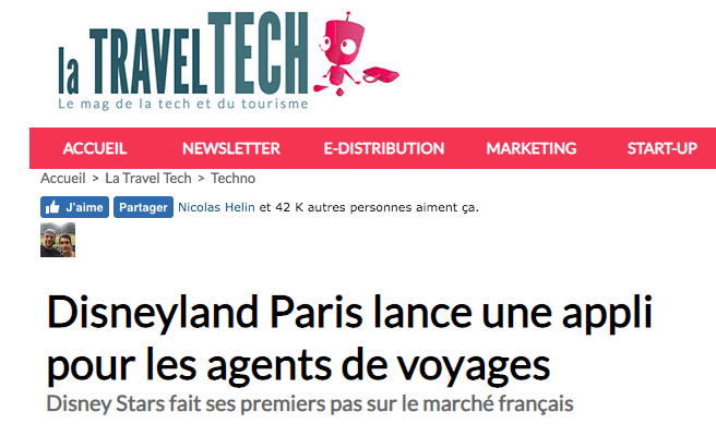 article disney stars par la travel tech