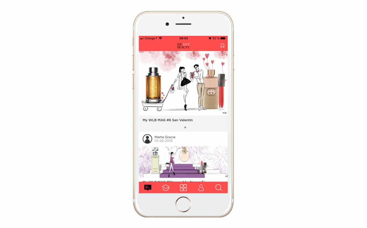 we live beauty app mobile learning coty luxury