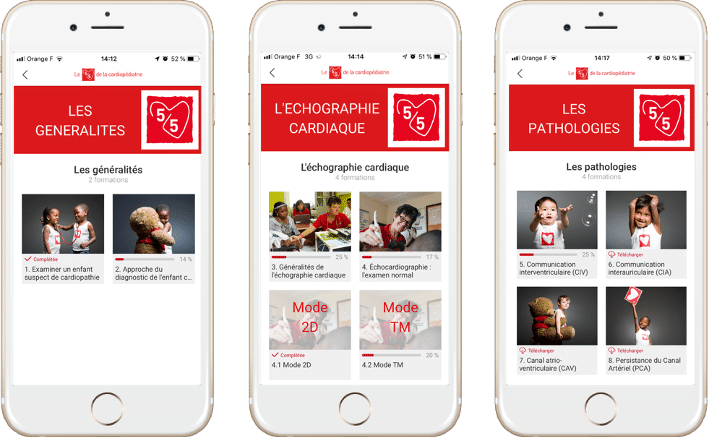 application mobile learning mecenat chirurgie cardiaque