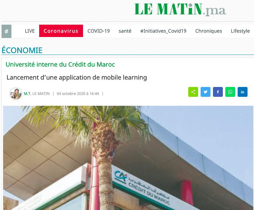 credit du maroc my campus journal le matin