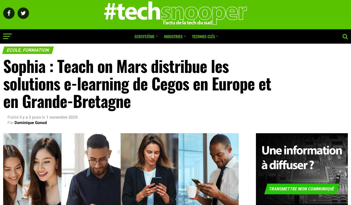 partenariat teach on mars et cegos tech snooper