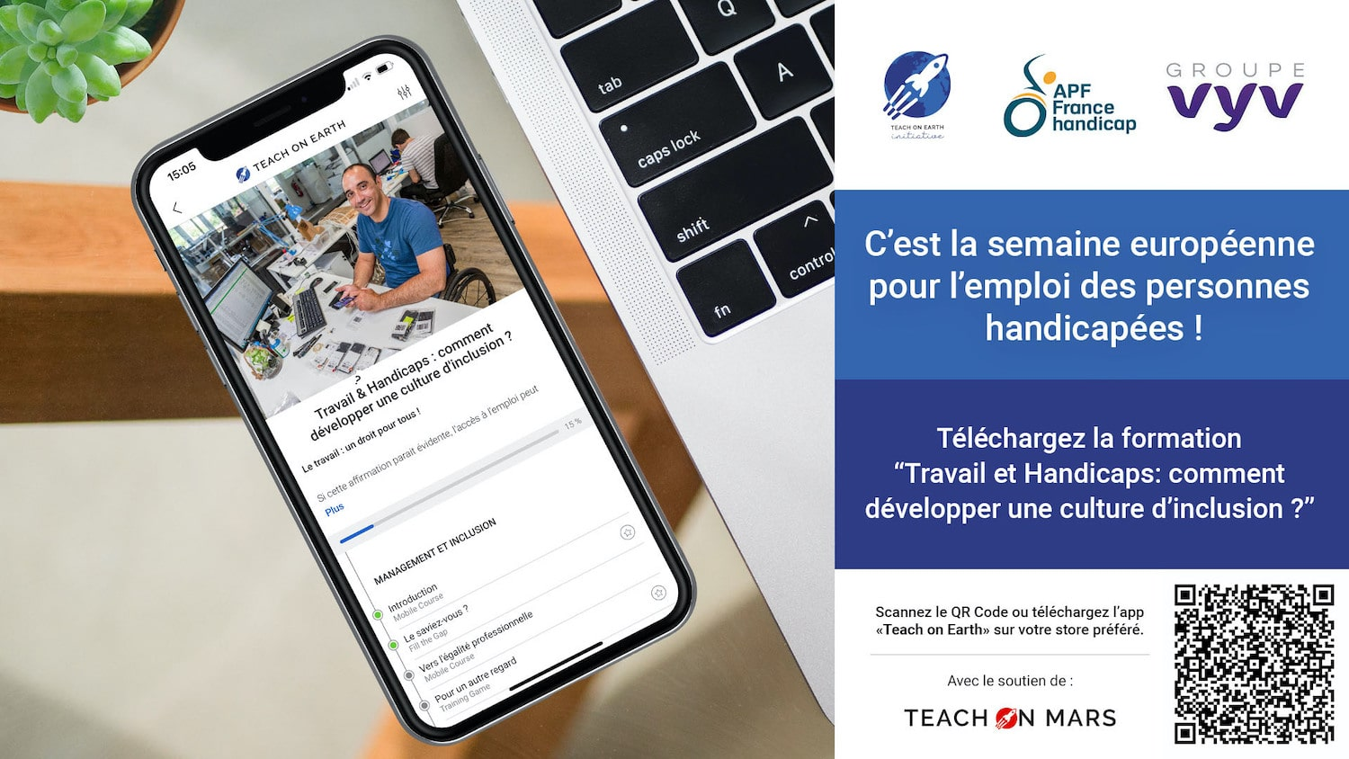 formation handicap au travail formation teach on earth vyv apf