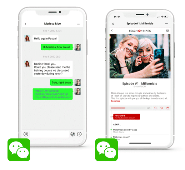 integration wechat app mobile learning