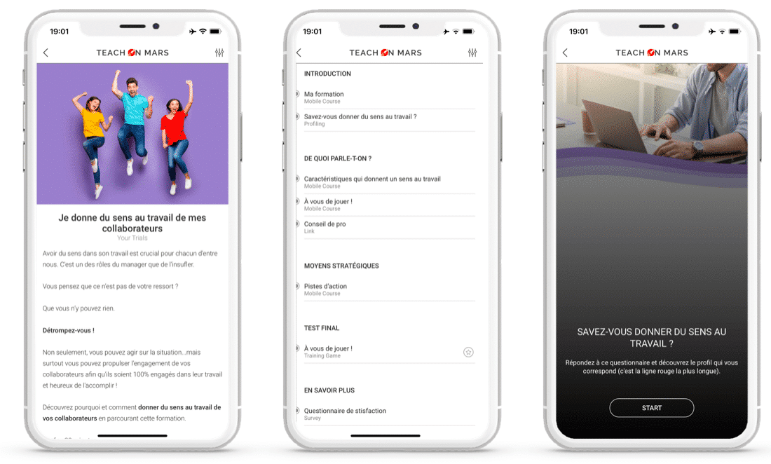 app mobile learning edup donner sens travail
