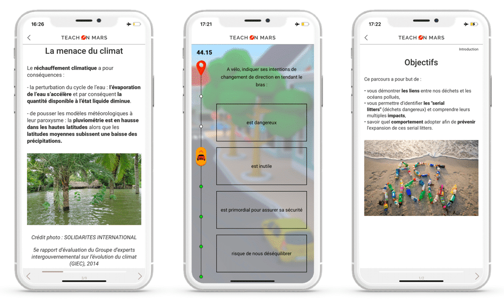 offre rse teach on mars app ecologie