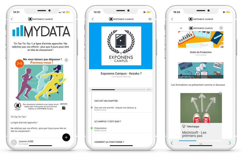 exponens application mobile learning mydata
