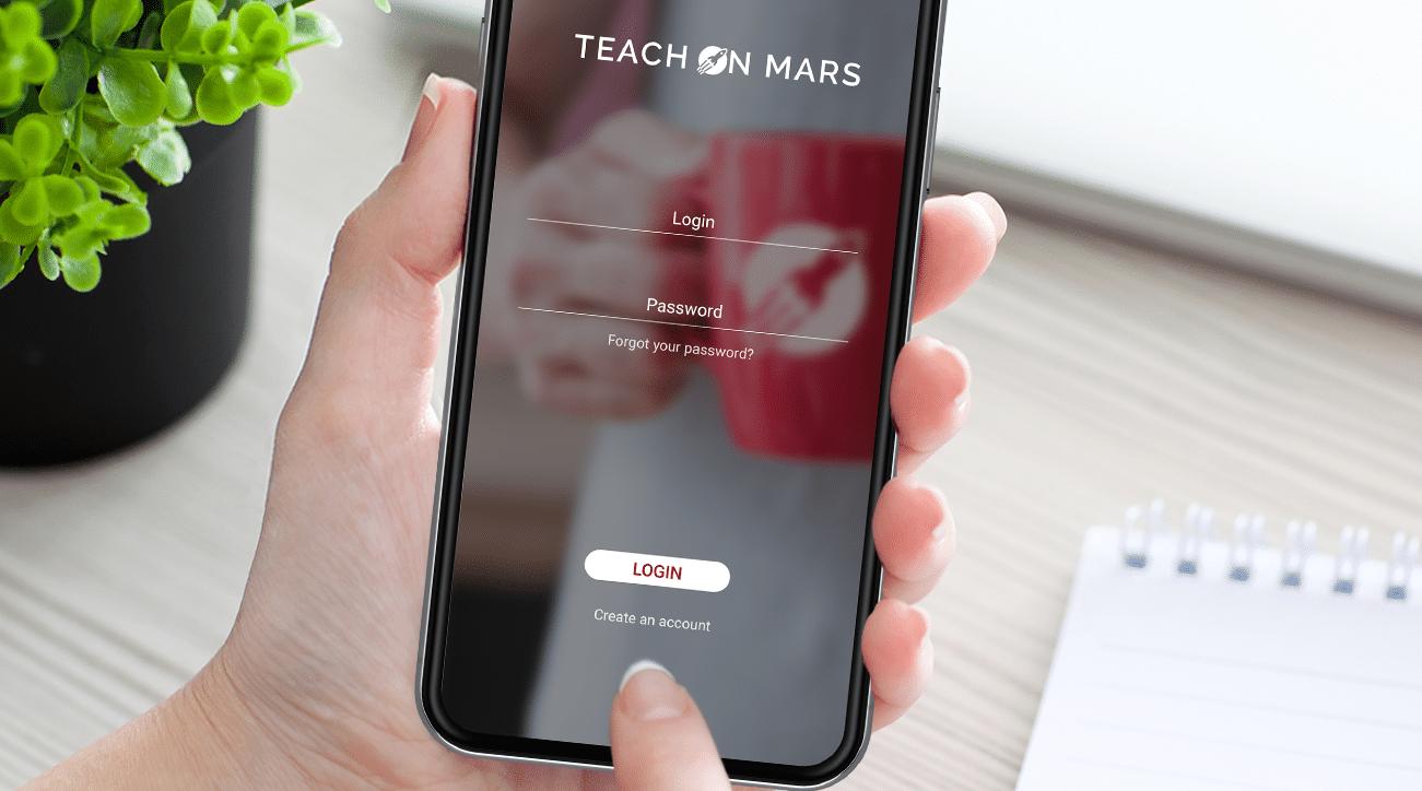 login teach on mars app